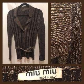 Size S/M (IT 40) - VINTAGE Miu Miu - Cardigan