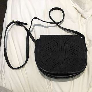 Black Sportsgirl Shoulder Bag Boho Look