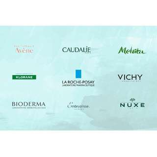 French Parapharmacy products (La Roche Posay, Avene, Nuxe, Caudalie, Vichy, Bioderma, Melvita, Embryolisse, Klorane)