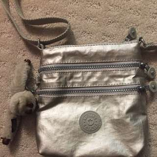 KIPLING AUTHENTIC SILVER CROSSBODY