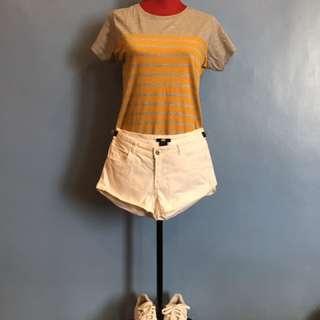 H&M Striped Yellow Shirt