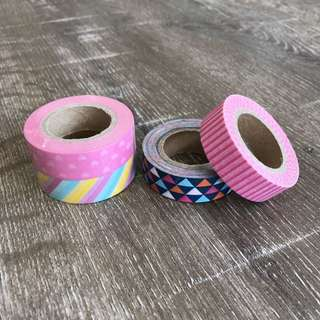 Typo Colourful Patterned Tapes