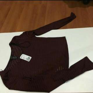 Forever21 Maroon Crop Top