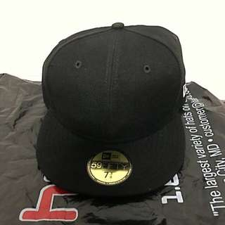 All Black New Era Fitted Cap