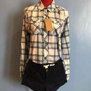 H&M Checkered Button Down Shirt
