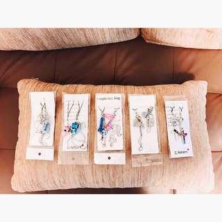 情侶粉藍組合手機吊飾飾品掛飾💓
