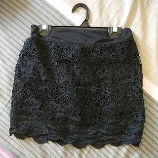 Lace Pants Skirt