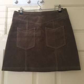 Faux Rough Suede Skirt Size Small By Mink Pink