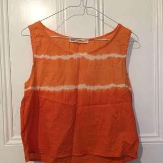 Orange Tie Dye Top