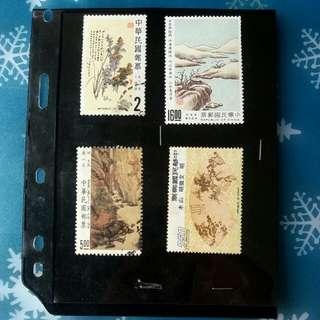 中國山水畫郵票