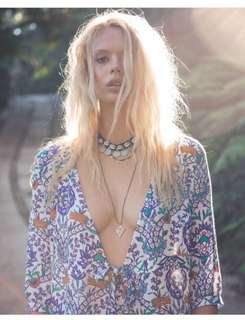 Arnhem clothing Moroccan Floral Maxi Dress In Sapphire Sold Out Online