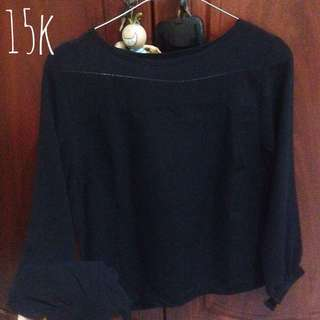 Long Sleeve Black Transparant