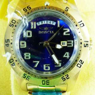 Invicta Men's 44mm Specialty Blue or Black Dial Day/Date Stainless Steel Watch rolex omega seiko casio tissot