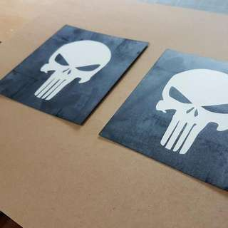 Customised Decal / Stickers/ Punisher / Laptop / Helmet / Handmade