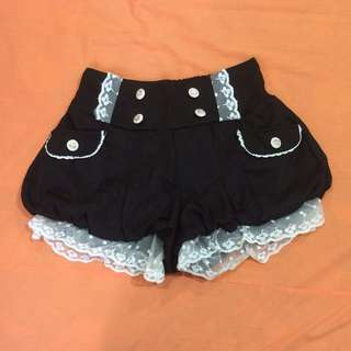 Cute Harajuku Black Pumpkin Shorts