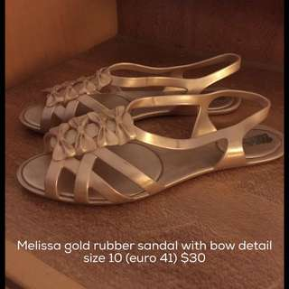 Melissa Gold Bow Sandal