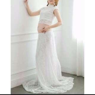 孕婦寫真類白紗