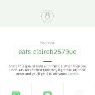 UberEATS $10 Discount
