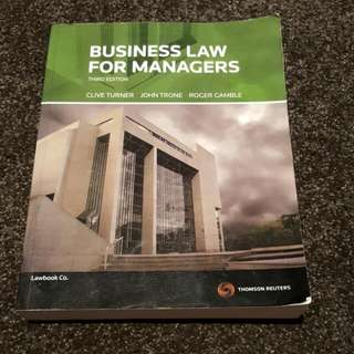 Business Law for Managers 3rd Edition