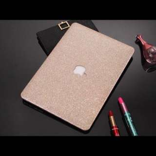 """[INSTOCK] 🆕 BN Brand New High Quality Apple Macbook Air Pro Retina 2016 11"""" 12"""" 13"""" 15"""" Laptop Protective Hard Hardcover Casing Case Cover -  Bright Trendy Classy White Gold Shiny Glitter Case"""