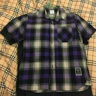 全新WODEN 紫色格子襯衫