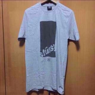 BN Stussy Long Line Tshirt Grey