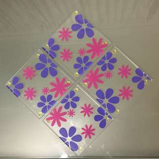 Glass Floral Coasters