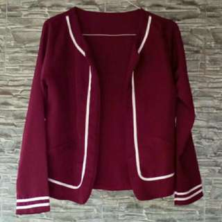 Maroon short outer
