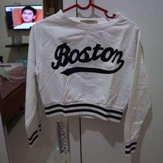 Boston Crop Sweatshirt