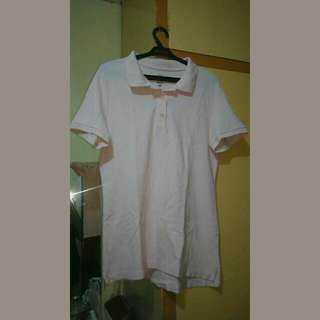 Baby Pink H&M collared polo shirt
