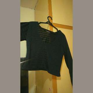 Black See Through pullover (sleeved)