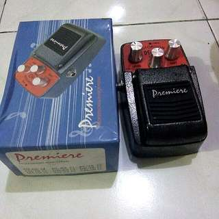 Premiere Distortion Effect Pedal for Electric Guitar