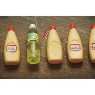 [玩具禮品] 早期/懷舊_日本早期模型 沙拉油 /美乃滋 /各種飲料罐和水果罐頭