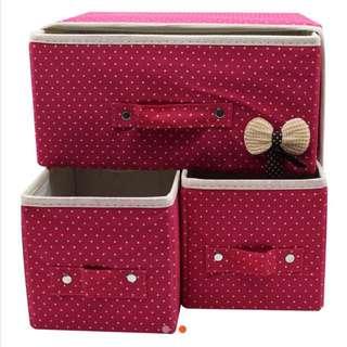 3 N 1 Multifunctional foldable Storage Box