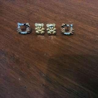 Hello kitty earrings  Bear earrings (us fancy- hypoallergenic)