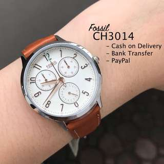 Fossil CH3014 Abilene Chronograph Brown Leather Watch