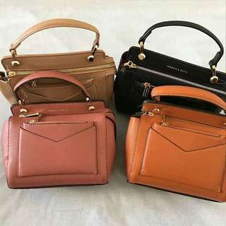 Charles & Keith Front Pouch Top Bag