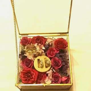 保鮮玫瑰戒指盒❤