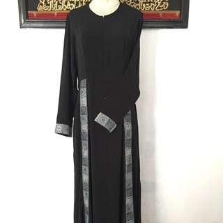 Gamis Modern / Baju Muslim Style / Abaya Cantik Hitam Aplikasi