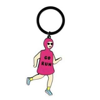 yizi store 鑰匙圈 跑步女孩