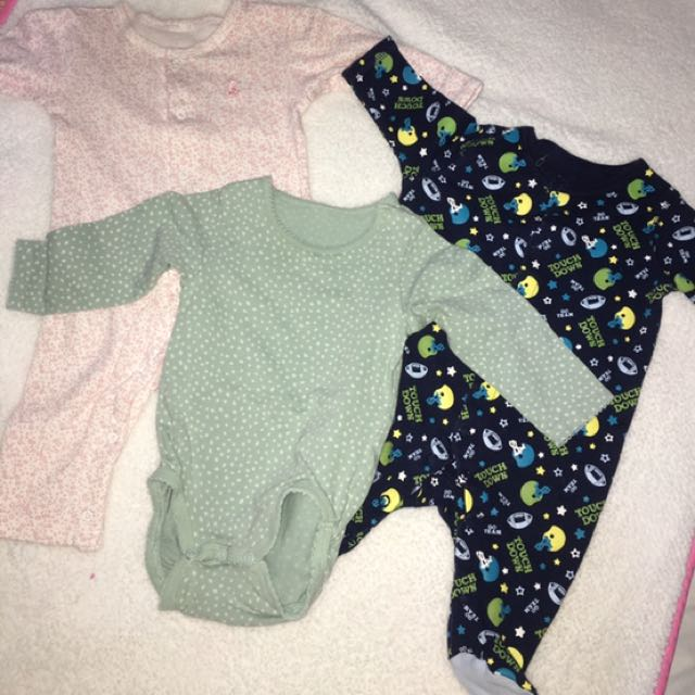 3pc sleepsuit and H&M onesie