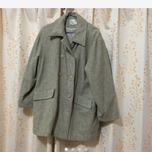 毛料長版大衣