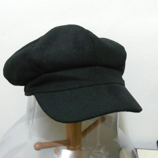 報童帽,毛料黑