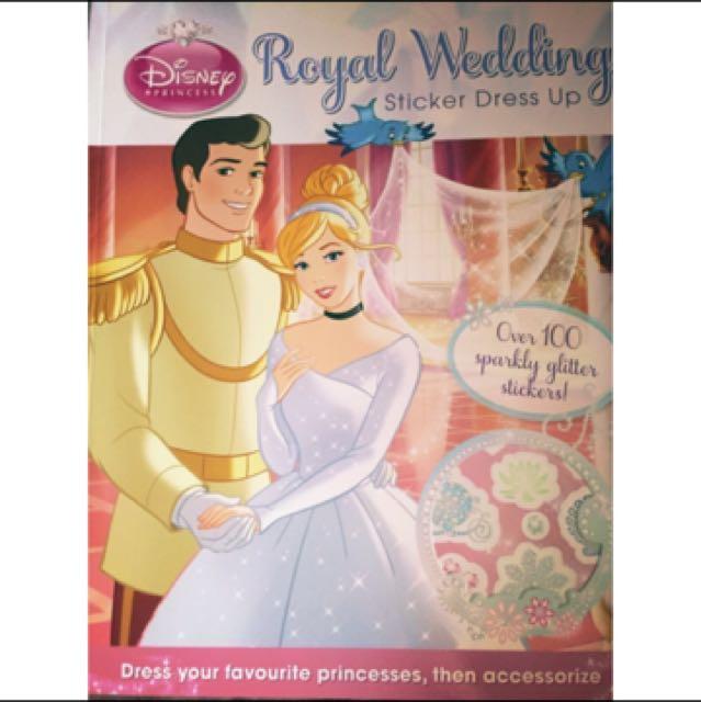 迪士尼 公主貼紙互動童書(英語)