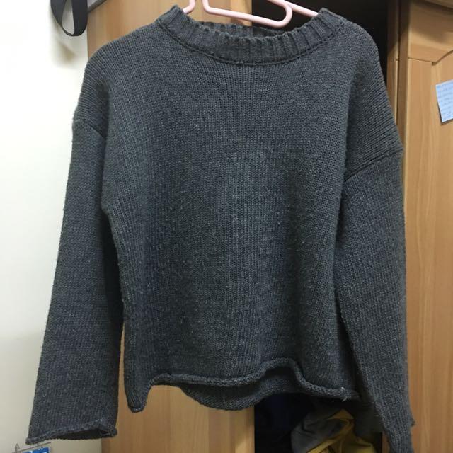 灰色毛衣 針織衫