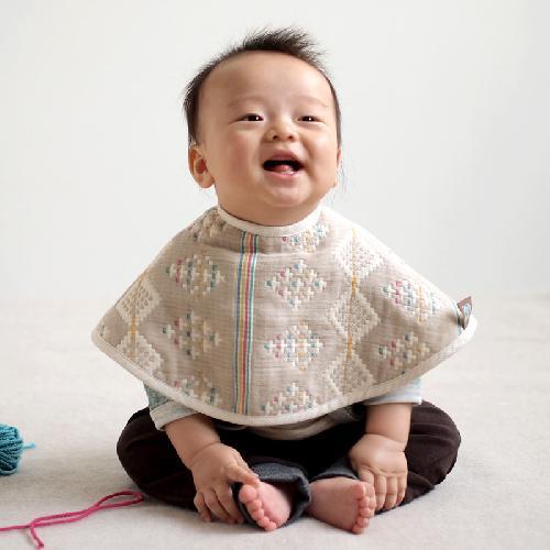 日本直送 Hoppetta  BOBO 六重紗馬賽克刺繡 多功能弧形肩膊墊一套兩件裝