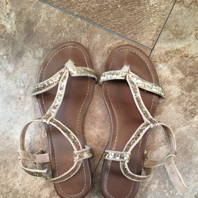 Aldo Gold Sandals