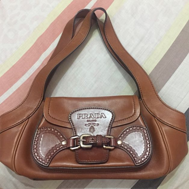 Authentic Leather Prada Handbag