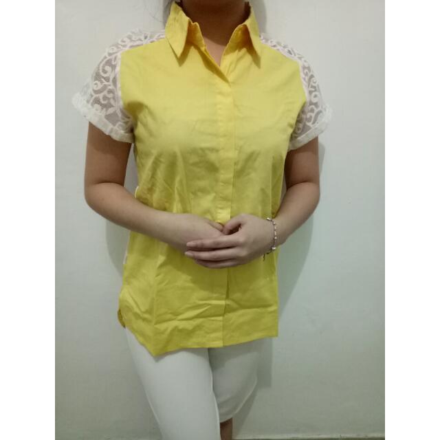 Back Lace Yellow