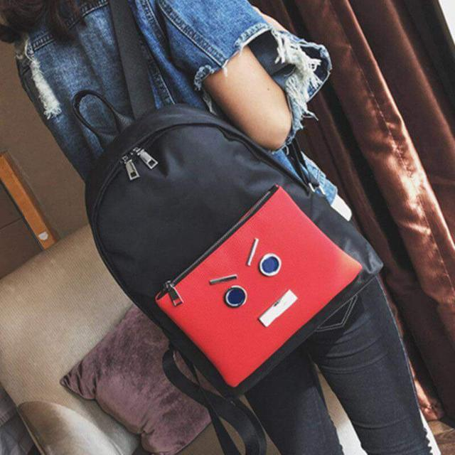 Bagpack With Face Design